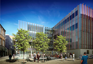 Image: Digital rendering of Biochemistry building by Hawkins\Brown